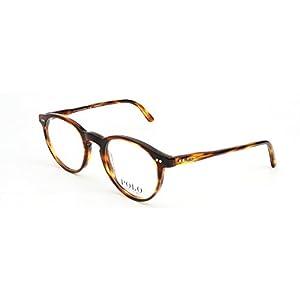 Polo Men's PH2083 Eyeglasses Havana Striped 46mm