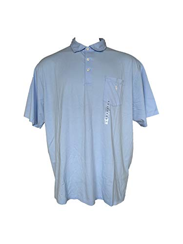 (POLO RALPH LAUREN Men's Pocket Polo Shirt Short Sleeve Big & Tall Soft Collared Shirts (XLT, Light Blue))