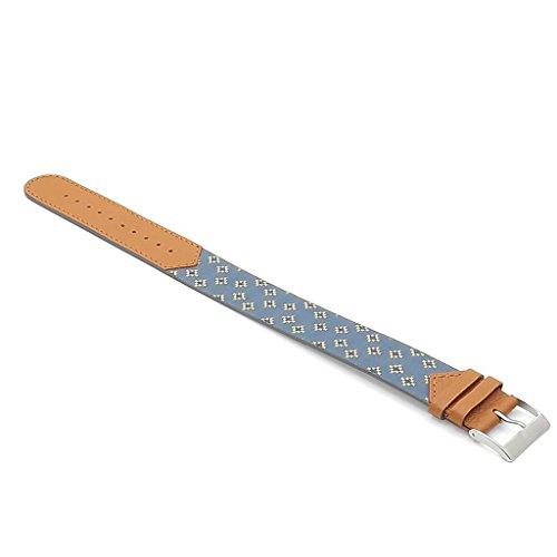 DASSARI Milan Italian Silk & Leather Watch Band Strap by DASSARI