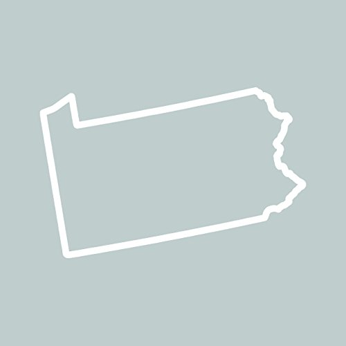 Outline Decal - Pennsylvania Outline Sticker Self Adhesive Vinyl Decal PA