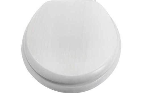 solid wood soft close toilet seat. Solid Wood Slow Close Toilet Seat  White Washed Finish Amazon