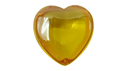 [Heart shape yellow color lucky & success gems crystal naga eye like topaz or amber with amulet box &] (2 Elves Dog Costume)