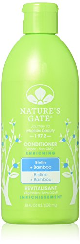 Biotin + Bamboo Enriching Conditioner - 18 fl oz (Natures Gate Strengthening Shampoo)