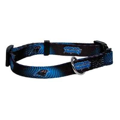 Carolina Panthers Adjustable Pet Dog Collar (Small)