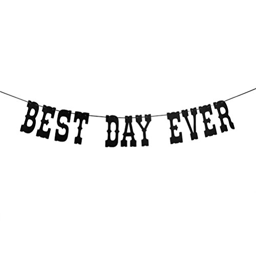 Best Day Ever Banner - Bridal Shower/Wedding/Birthday/Anniversary/Announcement/Engagement/Promotion Party Decorations