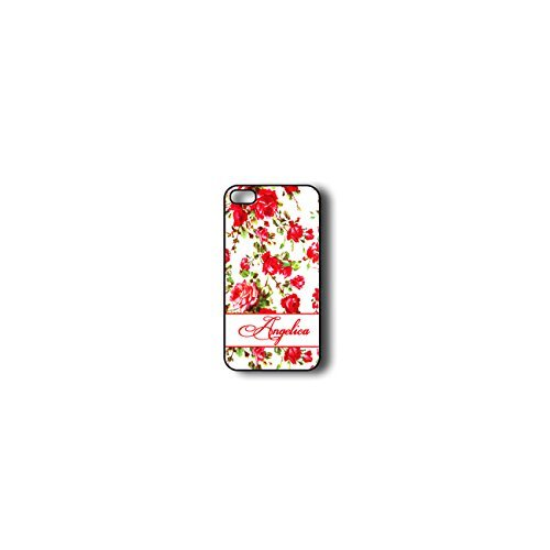 Krezy Case Monogram iphone 4 Case, Colorful flowers Pattern Monogram iphone 4 Case, Monogram iphone 4 Case, iphone...