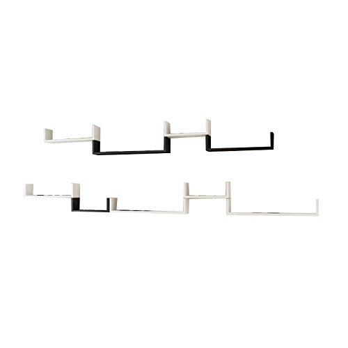 シンプルなファッションウォールラックU字型シェルフリビングルームのパーティションの壁シンプルな現代本棚の寝室の装飾の壁キャビネットラミネート (サイズ さいず : D) B07G2VTNWK  D