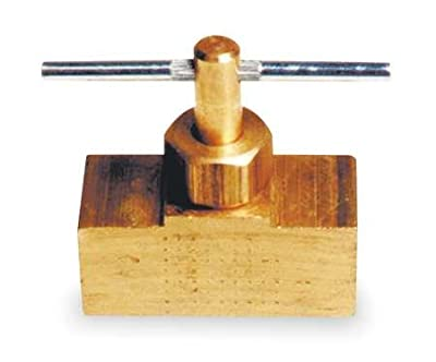 Needle Valve, Straight, Brass, 1/8 In. by GRAINGER APPROVED