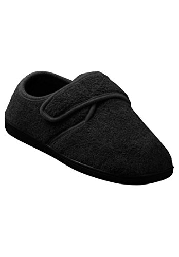 Kingsize Mens Tall Velcro Close Slippers