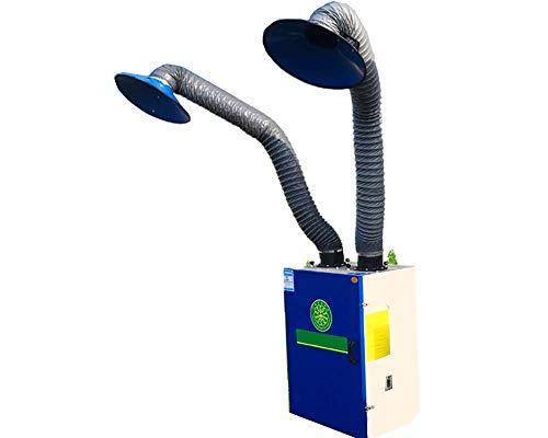 (KUNHEWUHUA Portable Smoke Fume Extractor Solder Smoke Absorber Remover Welding Smoke Eater 8.2 Foot Arm Air Volume: 1059-1412 CFM (Dual arms))