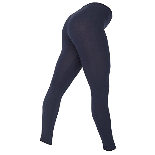 American Apparel Womens/Ladies Cotton Spandex Jersey Leggings (L) (Navy) by American Apparel