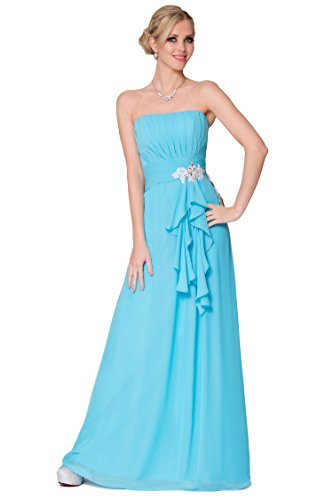 SEXYHER sin tirantes integral de damas de honor vestido de noche formal del vestido -EDJ1666 PowderBlue-62C