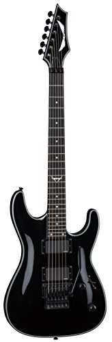 Dean Guitars 6 String Dean Custom 450 Floyd w/EMG Solid Body Electric Guitar – Classic Black (C450FCBK)