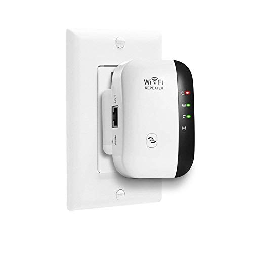 Mini WiFi Repeater, Range Extender Wireless 300Mbps Access Point 2.4GHz High Speed Network Ap/Repeater Modes, with Ethernet Port WiFi Signal Internet Booster Compatible with Alexa, US Plug