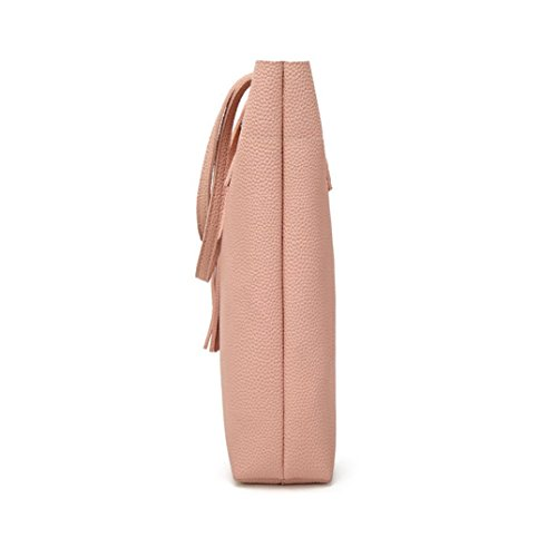 Shoulder Tote Fashion Crossbody Women Bag Tassel Black Handbags Bag Women's Bucket Bag Fashion Pink FU6fqU