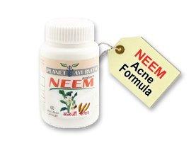 Pilules d'acné - Capsules Neem - 60 tabets de médicaments contre l'acné - Traitement de l'acné / Traitement / comédons Traitement Pimple. Aide à l'enlèvement des cicatrices d'acné et la guérison des zits, boutons, points noirs comme solvant de défaut. Tra