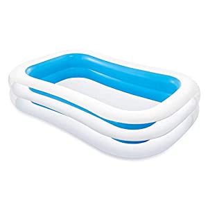 Intex Swim Center Family Inflatable Pool, 103″ X 69″ X 22″, for Ages 6+