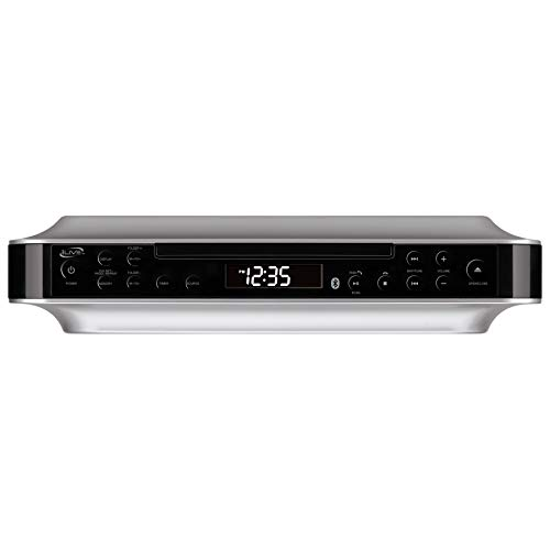 iLive Bluetooth Under Cabinet Radio (FM) CD Player, Bluetooth, USB, AUX in, MP3 CD Wireless Music System with Kitchen Timer, Digital Clock and Hands Free Speakerphone with Remote Control iKBC384SMP3U