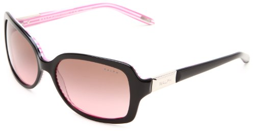 Ralph by Ralph Lauren 0RA5130 109214 Square Sunglasses,Black & Pink Stripe,58 - Eyeglasses Women Ralph Lauren