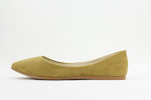 Casual Toe Flat Women's Pinky Tan Ballet Pointed Via Tatiana qwIXxPPF