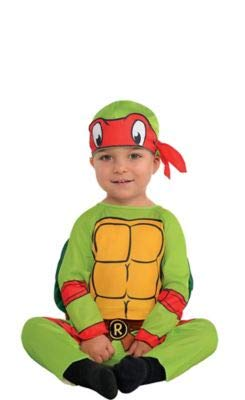 Amscan Teenage Mutant Ninja Turtles Raphael Halloween Costume for Infants, 6-12 Months, with Included Accessories -