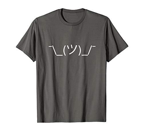 Mens Shrug Emoji (White) T-Shirt Medium ()