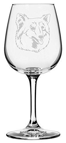 Finnish Spitz Dog Themed Etched 12.75oz Libbey Wine -