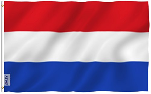 ANLEY [Fly Breeze] 3x5 Foot Netherlands Flag - Vivid Color and UV Fade Resistant - Canvas Header and Double Stitched - Holland National Flags Polyester with Brass Grommets 3 X 5 Ft