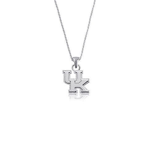 (University of Kentucky Wildcats UK Sterling Silver Jewelry by Dayna Designs (Pendant Necklace))