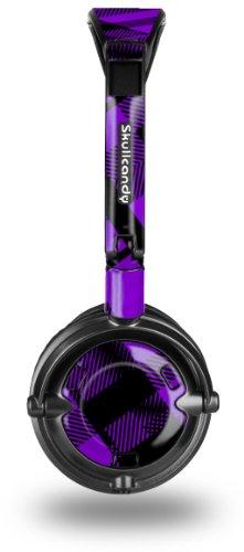 (Purple Plaid Decal Style Skin fits Skullcandy Lowrider Headphones (HEADPHONES SOLD SEPARATELY))