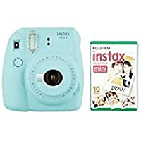 instax Mini 9 Camera with 10 Shots and Case - Ice Blue