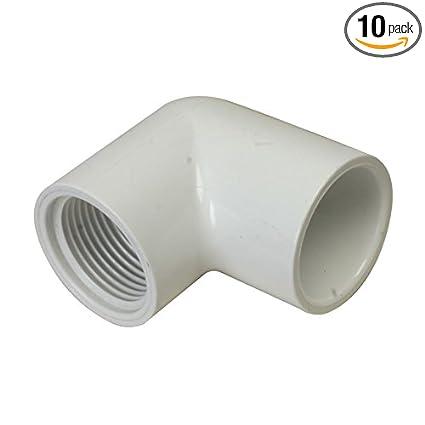 PVC Pipe End Cap Pipe Fitting 1//2-Inch Slip Socket