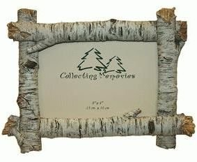 Rustic Birch Wood Log 4x6 Photo Frame (Horizontal)