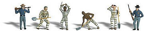 (Woodland Scenics HO Scale Scenic Accents Figures/People Set Chain Gang (6) by Woodland Scenics)
