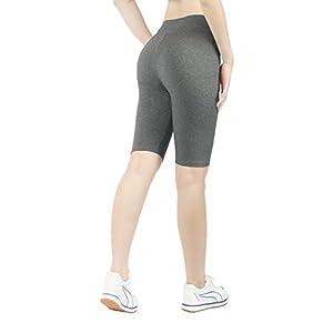 iLoveSIA 2PACK Women's Tight Yoga Workout Short Legging US Size M Black+Grey