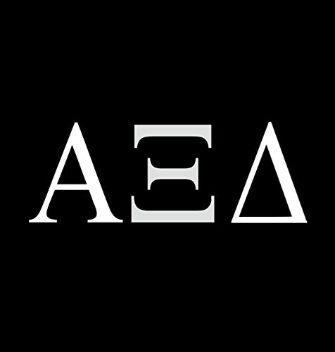 - Alpha Xi Delta Sorority NOK Decal Vinyl Sticker |Cars Trucks Vans Walls Laptop|White|5.5 x 2.5 in|NOK052