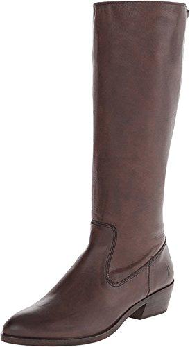 Frye Womens Ruby zip Tall Boot Charcoal Soepel Vintage Leer