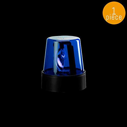 Lumistick 7 Inch LED Police Light Party Beacon   Rotating Flashing Alert Ultra Bright Emergency Warning Light for Party (Blue, 1 Police Beacon)