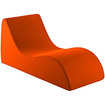 Vivon Comfort Foam / Lounging Accent Chair / Chaise Lounge / for the Bedroom / Family Room / Game Room, Orange