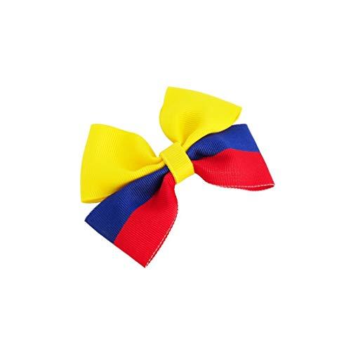 Colombia Flag Hair Bow