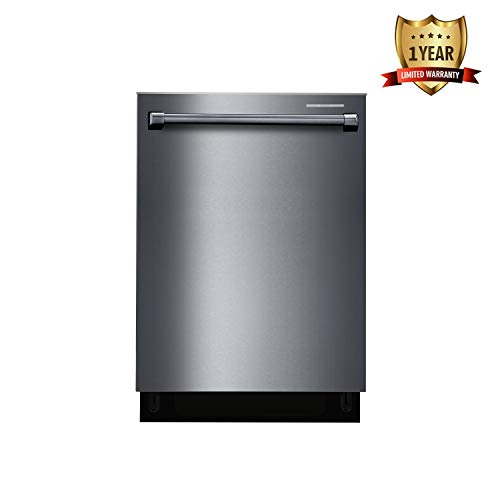 Thor Kitchen 24'' Built-In Dishwasher, Fully Integrated Dish Wash Machine with Top Control Panel - 24 Inches - Stainless Steel - 1 Years Warranty - Black