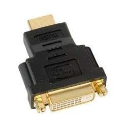 Nilox HDMI M / DVI-D F - Adaptador para cable (macho/hembra, HDMI 19, DVI-D (SL) 18+1, Negro)