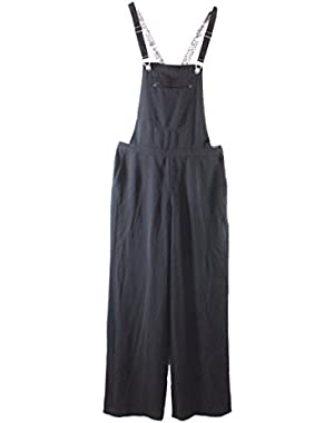 Guess Solid Deep Women's Wide-Leg Jumpsuit Overalls $118 Black 4
