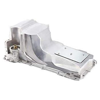 Schnecke Engine Oil Pan Fits select 5.3L 6.0L 4.8L CADILLAC ESCALADE//ESV//EXT CHEVROLET EXPRESS SILVERADO SONORA SUBURBAN TAHOE GMC SAVANA SIERRA YUKON//XL 1500//XL 2500 replaces 12560393 GMP53A