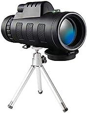 AM ANNA Waterproof Monocular Telescope with Phone Clip and Tripod (Black, 50X60 HD)
