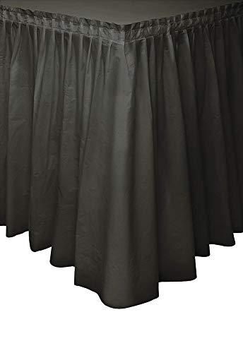 Black Plastic Table Skirt, 29