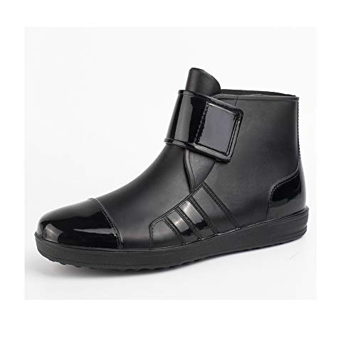 Sophie Marceau Men's Outdoor Fashion Rain Boots, Non-Toxic, Environmentally Friendly, Wear-Resistant, Non-Slip, Low-Cut Short Casual Men's Rain Boots (Black),41