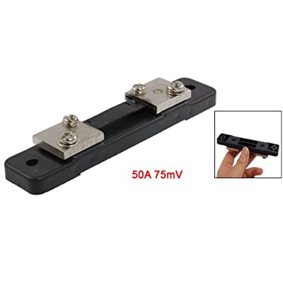 uxcell 50A 75mV DC Current Measuring Shunt Resistor for Ammeter: Industrial & Scientific