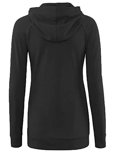 Liu & Qu Womens Nursing Hoodie Long Sleeves Sweatshirt Breastfeeding Layered Top Pocket Casual Clothes by Liu & Qu (Image #3)