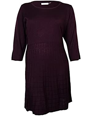 Calvin Klein Women's Long Sleeve A-line Sweater Dress